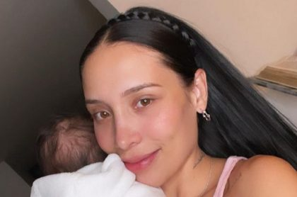 Luisa Fernanda W con su hijo Máximo , en Instagram.