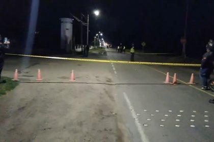 Imagen de accidente en la vía Bogotá-Sibaté, que dejó dos personas muertas y tres heridos
