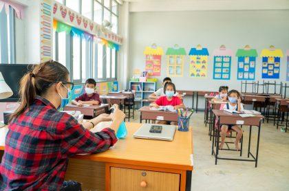 Profesora ilustra nota sobre maestros de Bogotá que no quieren regresar a Colombia