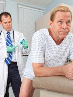 Imagen de referencia de un examen de próstata.