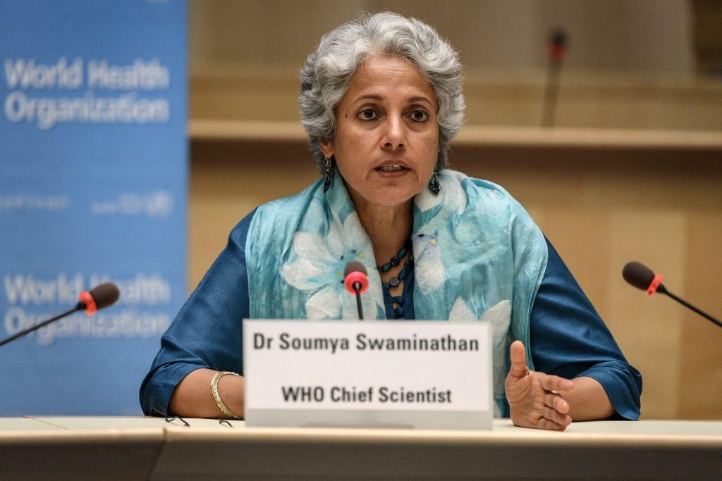 Soumya Swaminathan, científica jefe de la Organización Mundial de la Salud / AFP