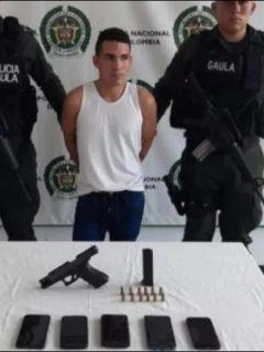 Imagen de la captura de alias 'Tommy Masacre', que sigue extorsionando a comerciantes desde la cárcel en Popayán