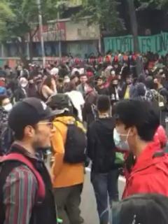 Protestas en Universidad Pedagógica hoy viernes 12 de febrero