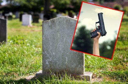 Imágenes que ilustran el tiroteo que hubo en un cementerio de Bogotá.