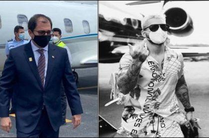 Foto del fiscal Barbosa en avión por la que el congresista Inti Asprilla lo comparó con Maluma
