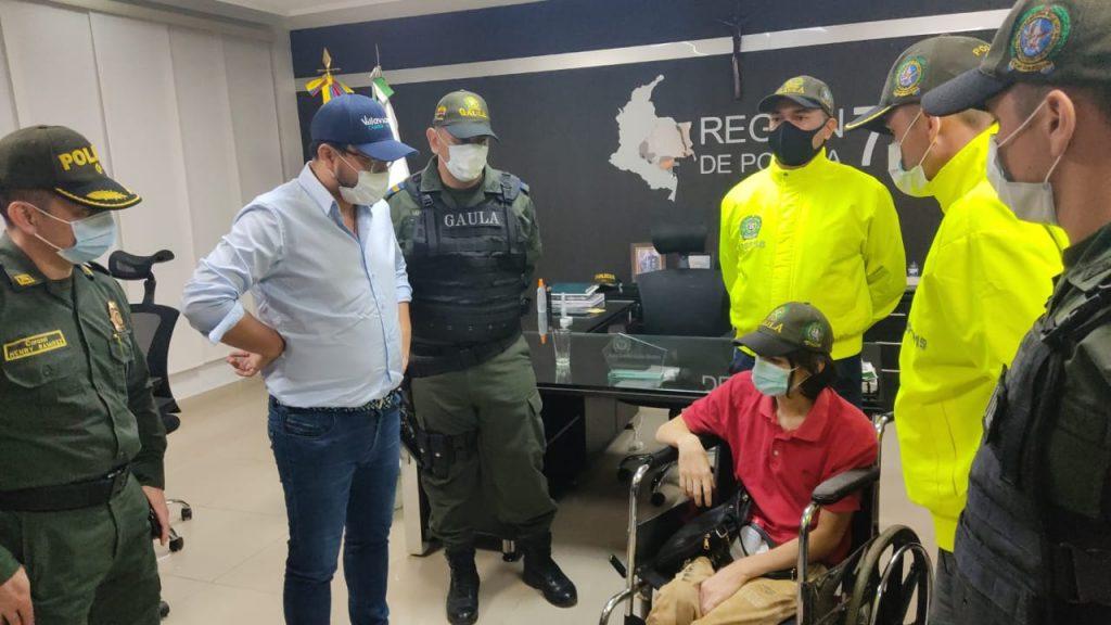 Joven discapacitado que logró escapar de un secuestro en Villavicencio /Policía Nacional