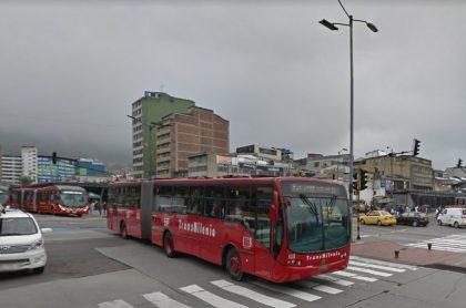 Transmilenio en la calle 13 con Avenida Caracas, ilustra nota sobre accidentes de Transmilenio el 13 de febrero.