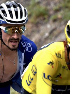 Egan Bernal y Julian Alaphilippe en el Tour de Francia de 2019.
