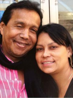 Diomedes Díaz y su última pareja, Consuelo Martínez