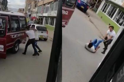 Video de la pelea de conductores en Soacha.