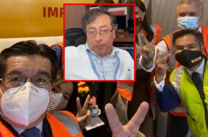 Gustavo Petro, que criticó a Iván Duque y el ministro de Salud por foto que se tomaron con la llegada de las vacunas a Colombia