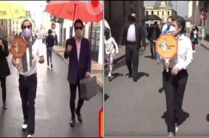 'Juanpis González' parodia a Claudia López por alegato con vendedora ambulante