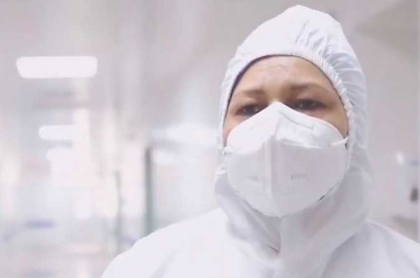 Enfermera Verónica Machado, que será la primera en ser vacunada