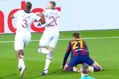 FC Barcelona vs. PSG: dieron discutido penal  a favor del equipo catalán