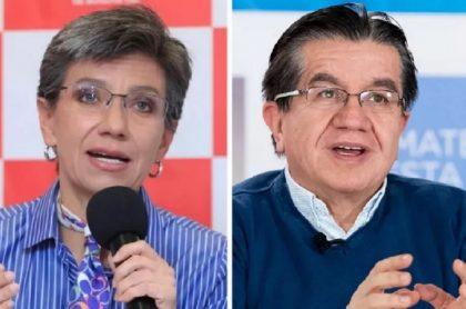 Claudia López y ministro de Salud, que discutieron por el inicio de la vacunación