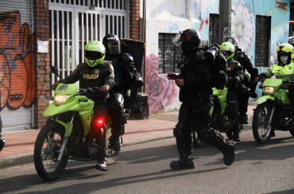 Periodista denuncia agresión del Esmad en protestas de estudiantes. (Protestas en Bogotá, 21/11/2020. Imagen de referencia).