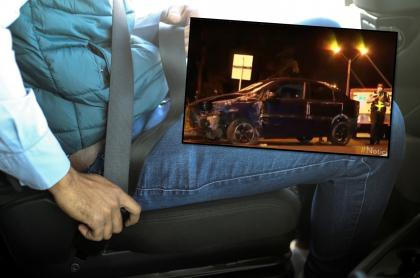 Accidente de tránsito en Medellín deja un hombre muerto, no llevaba cinturón de seguridad.