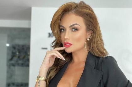 Sara Uribe, presentadora, quien subió 10 kilos.