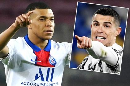 Kylian Mbappé vale el doble que Cristiano Ronaldo, según el PSG. Fotomontaje: Pulzo.