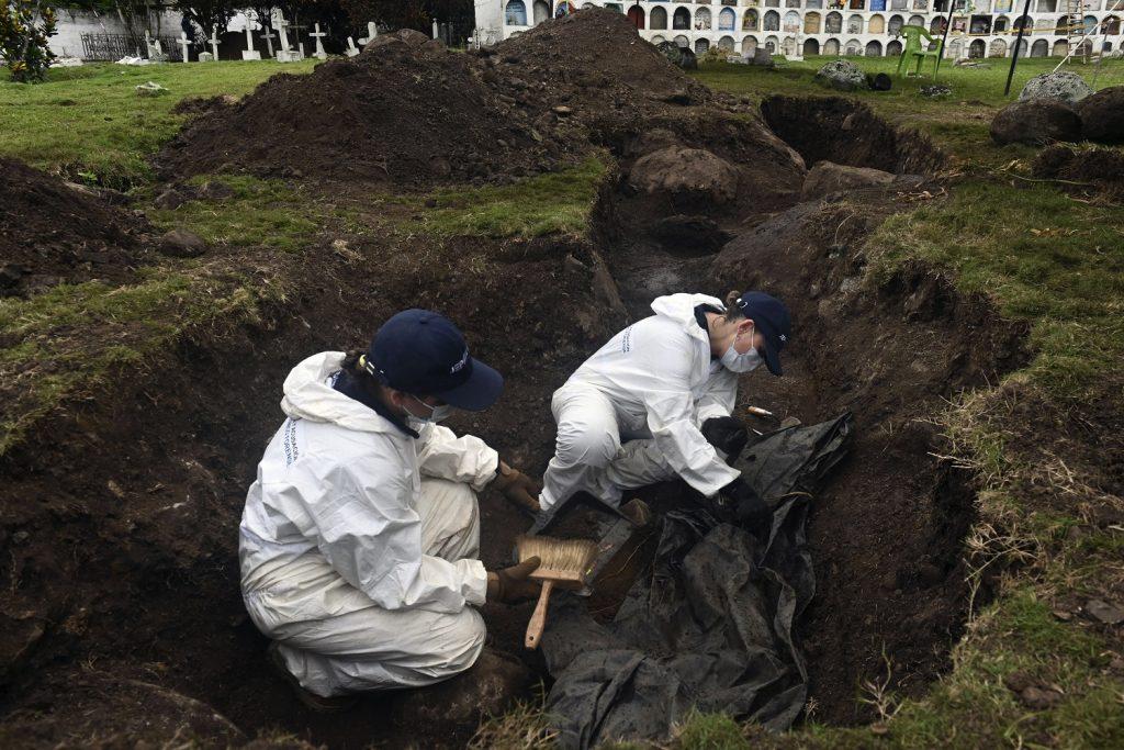 Cementerio de Dabeiba, Antioquia, donde la JEP buscó casos de falsos positivos / AFP