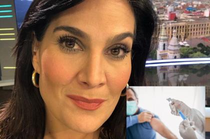 """La periodista Vanessa de la Torre expuso """"hay mucho show"""" frente a las vacunas en Colombia. Dijo que lo importante es vacunar, no las fotos de gobernantes."""