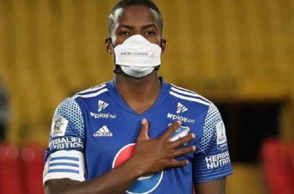 Andrés Felipe Román, jugador que según la junta médica de Millonarios no tiene problemas cardiacos