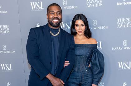 Foto de Kanye West y Kim Kardashian, a propósito de su divorcio