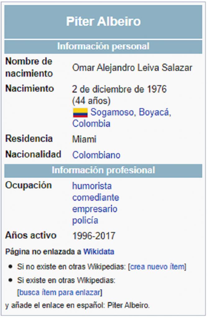 Captura de pantalla Wikipedia 2021