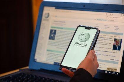 Un usuario consultando a Wikipedia. Imagen ilustrativa a los errores más famosos de Wikipedia.
