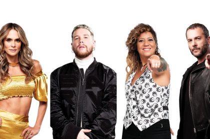 Karen Martínez, 'DIM', Rosana y José Gaviria, de 'Factor X', ilustran nota sobre parejas y exparejas de los jurados y presentadores del concurso (fotomontaje Pulzo).
