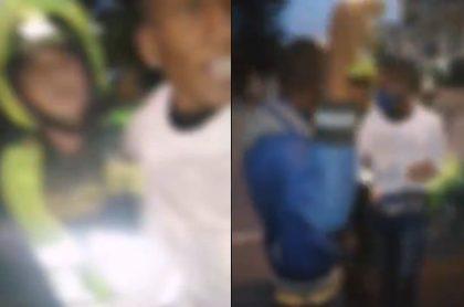 Hombre intenta golpear a supuesto ladrón que es menor de edad en Cali.