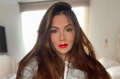 Lina Tejeiro, quien contó que su hermano fue atracado por un domiciliario en Bogotá, en una foto de octubre de 2020 tomada de su cuenta de Instagram.
