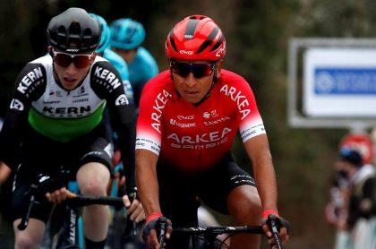Nairo Quintana en el Tour de los Alpes Marítimos, carrera en la que terminó noveno en la clasificación general