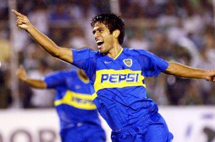 Fabian Vargas, exfutbolista colombiano, cuando jugaba para Boca Juniors.