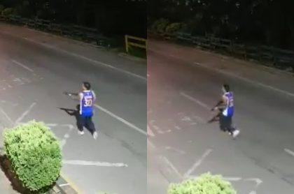 Sicarios hirieron a una persona y uno de ellos disparó una escopeta en Cali