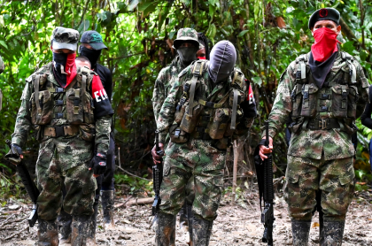 Eln y Farc aparecen apoyando a Nicolás Maduro en Venezuela. Imagen de referencia de los guerrilleros colombianos.