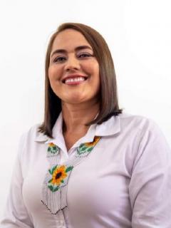 Foto de archivo de Alexandra Machado Montoya, viuda de exalcalde fallecido por COVID-19 que fue elegida alcaldesa de Urrao, Antioquia.
