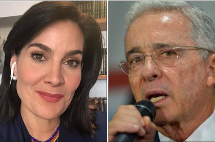 Vanessa de la Torre y Álvaro Uribe