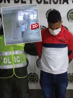 Imágenes del hombre capturado luego de la Policía diera de baja a un presunto sicario, que sería su cómplice, en Soledad