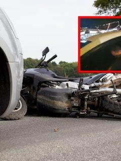 Conductor borracho en Cali se estrelló con una moto y se quedó dormido.