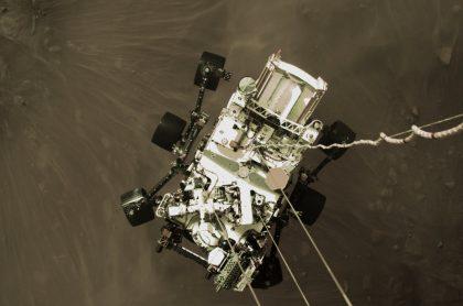 Video del aterrizaje de Perseverance, robot de la NASA.