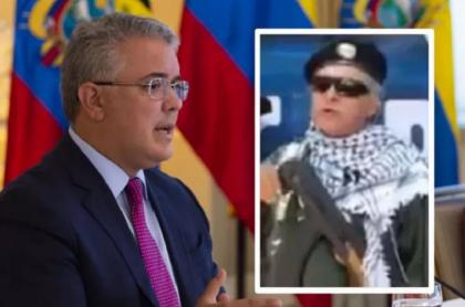 Iván Duque responde a 'Santrich' por amenazas del guerrillero
