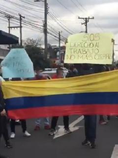 Protestas de los gastrobares en Bogotá