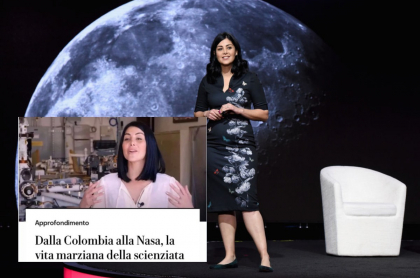 Colombiana que trabaja en la Nasa, Diana Trujillo, da conferencia, ilustra nota de  Diario italiano La Repubblica cambia desagradable titular sobre Diana Trujillo