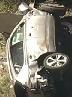 Accidente de Tiger Woods: hecho chatarra quedó el  carro del golfista.