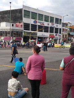 Cierres en la avenida Primero de Mayo por protestas en Bogotá.