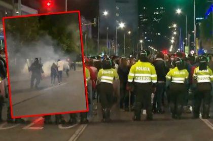 Imágenes de los disturbios en el norte de Bogotá.