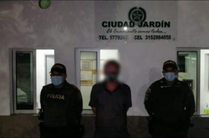 Imagen de la captura del ciudadano sueco acusado de violar a una menor en Cúcuta