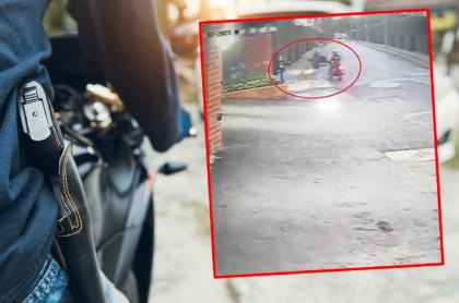 Imágenes que ilustran un nuevo robo en Bogotá.