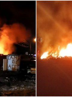 Incendio en Zipaquirá